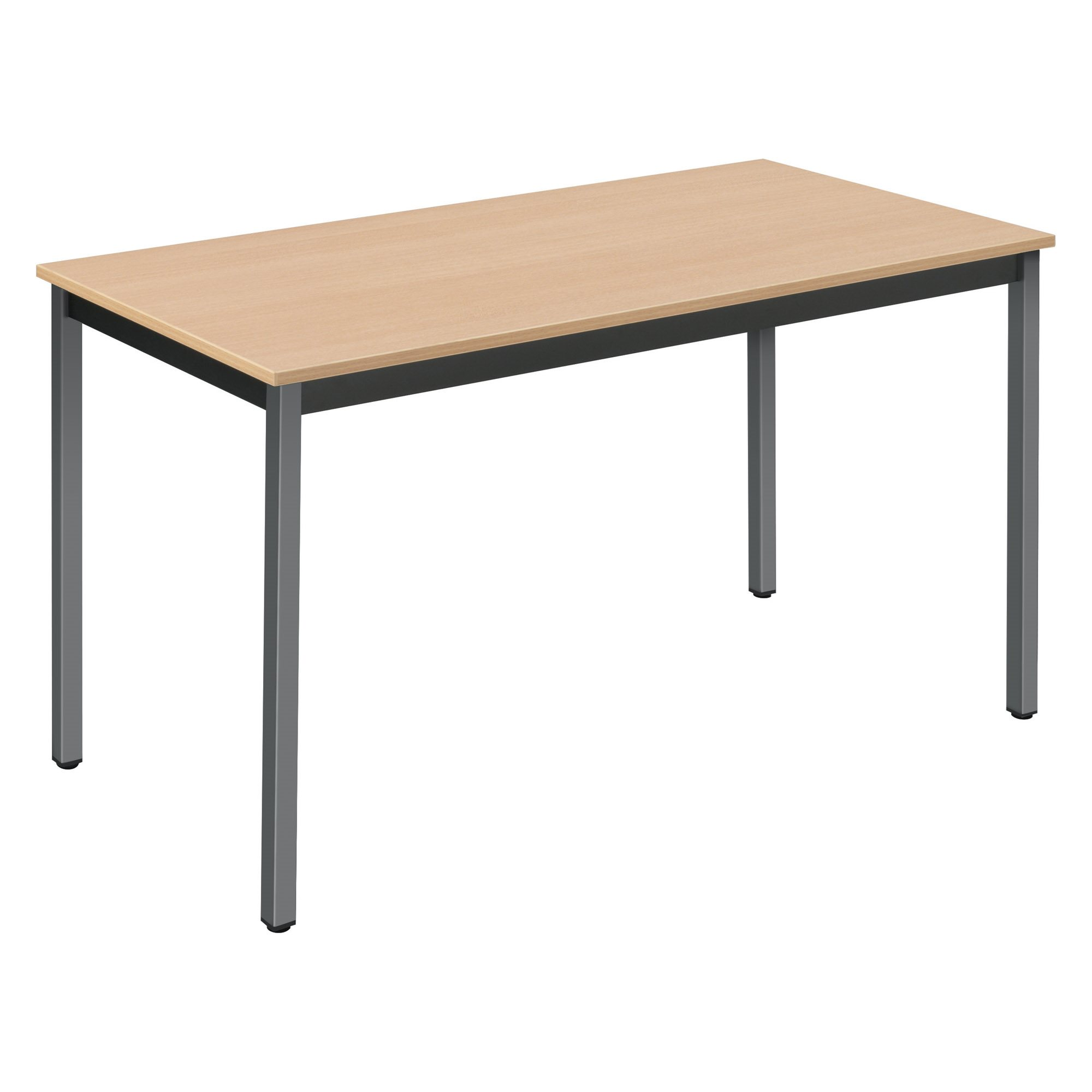 Pack 1 Multi-purpose table eco beech/anthracite W 120 x D 60 cm purchased = 1 table free