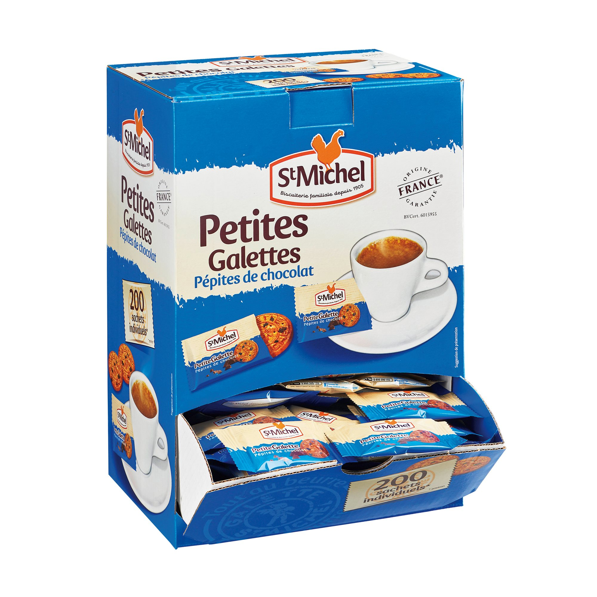 Mini cookies with chocolate chips St Michel - Box of 200