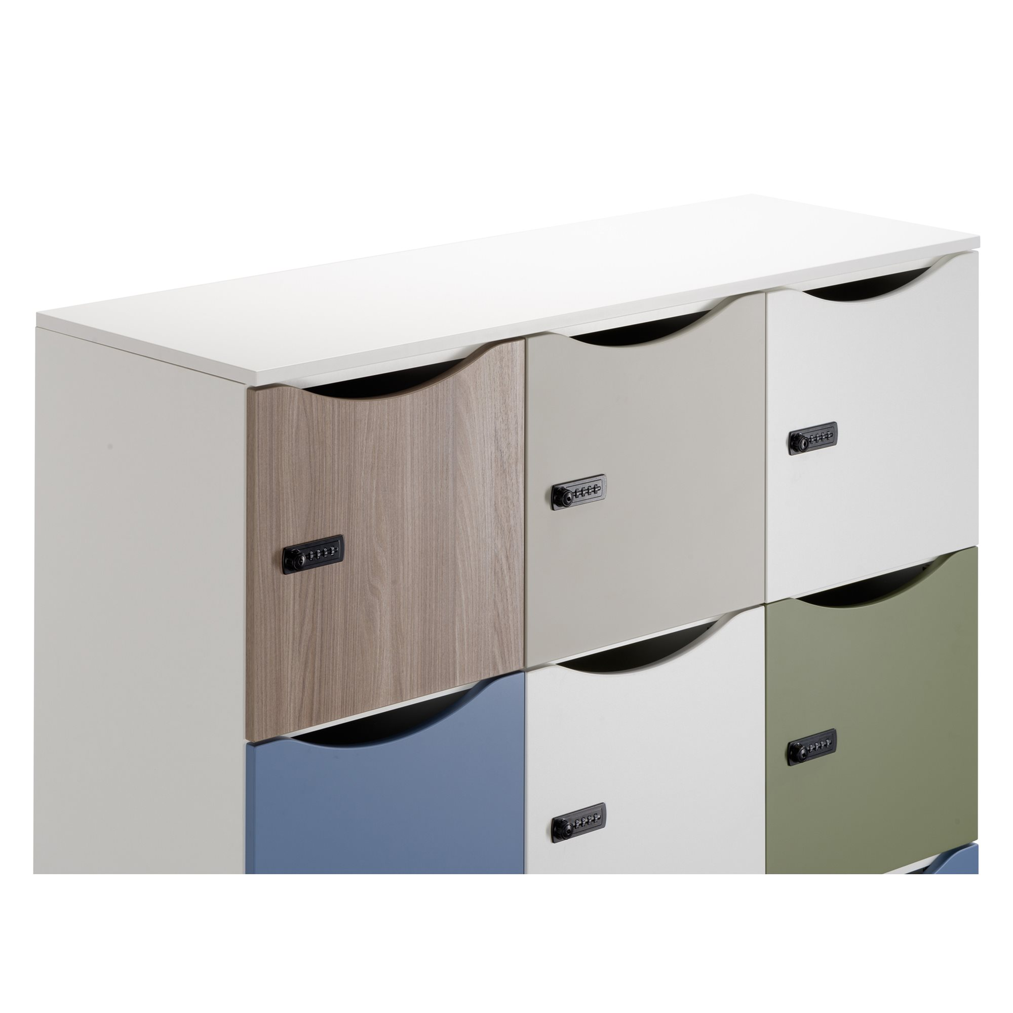 Finishing plate for 3 column-shaped lockers - W 129 cm