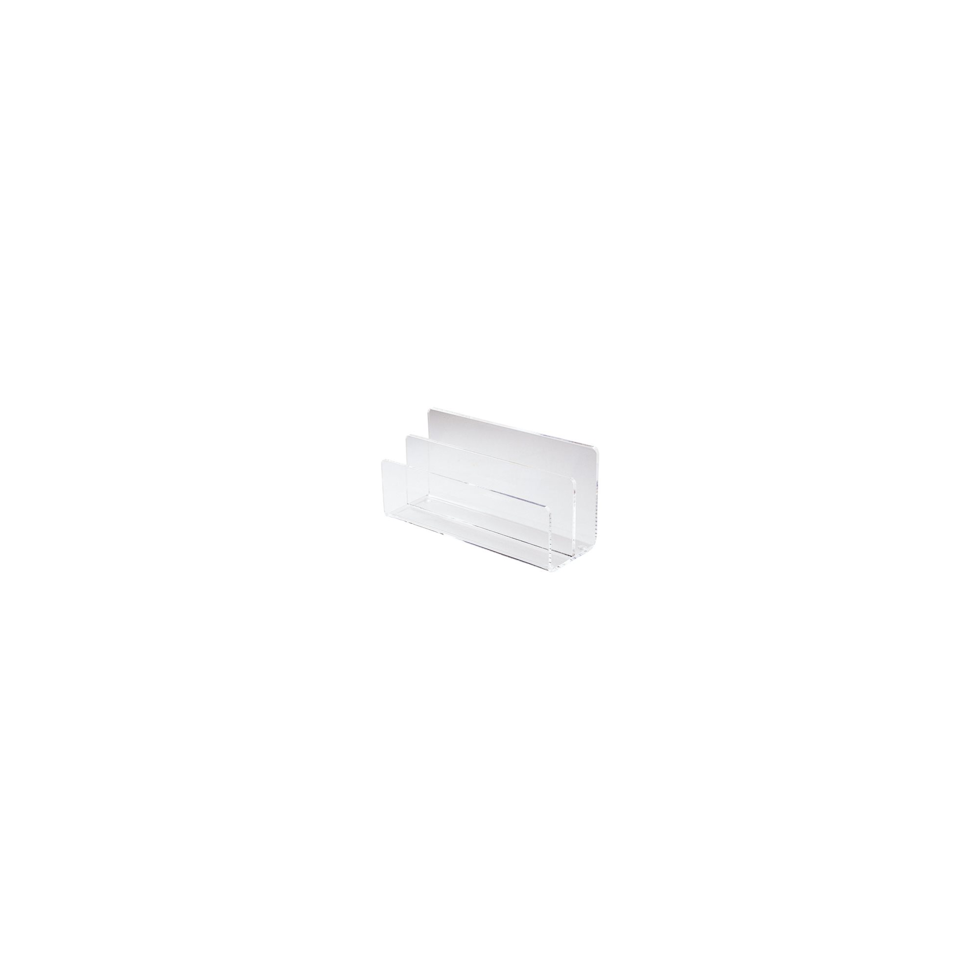 Classic mail holder 2 compartments colourless.