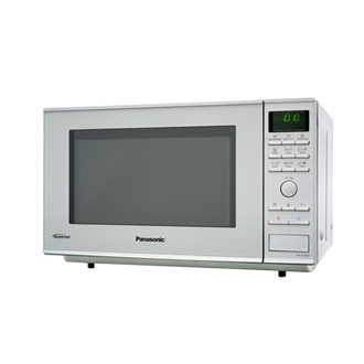 Panasonic NN-DF385MEPG - Slimline - four micro-ondes combiné - grill - pose libre - argent