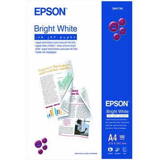 Epson Bright White Inkjet Paper - A4 - 500 hojas