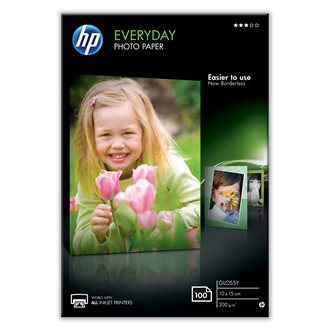 HP Everyday papel fotográfico Blanco Brillo