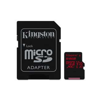 Kingston Technology Canvas React memoria flash 64 GB MicroSDXC Clase 10 UHS-I