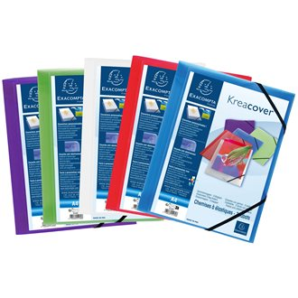 Kreacover Elasticated 3 Flap Folder with front pocket