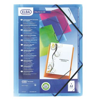 Personalizable transparent folder with 3 flaps A4 Elba
