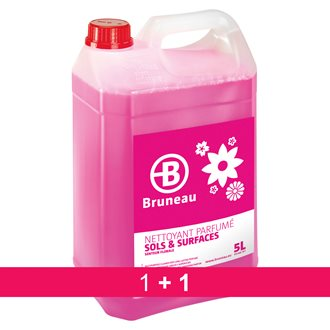 Pack 1 + 1 cleaning product floors and surfaces Bruneau flowers - can of 5 liter