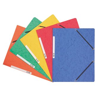 Folder with elastic without flap in cardboard Exacompta 24 x 32 cm rug 3,5 cm