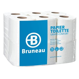 Toilet paper triple thickness Grand Confort Bruneau - Box of 36 rolls with 150 sheets