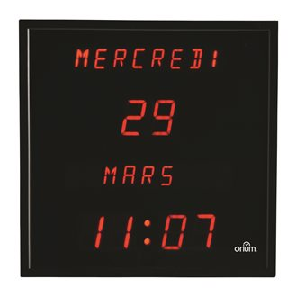 Electrical LED wall clock with calendar