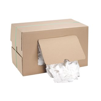 Box of 10 kg white rags of superior quality