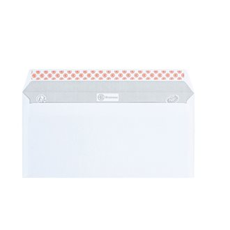 Box of 500 envelopes, 80 g, 110 x 220 mm, without window, self-adhesive flap with protective strip