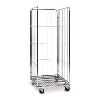 Roll container 3 sides in galvanised steel - capacity 400 kg