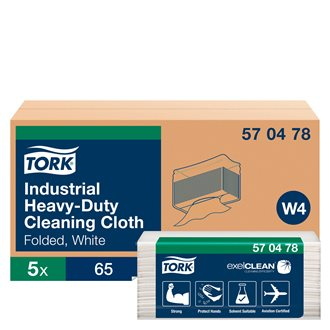 White cloth for industrial cleaning Tork W4 - Pack of 65