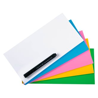 Repositionable Magic-Chart Notes 10 x 20 cm Matching Colours - 250 Pieces