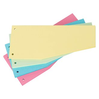 Trapeziod-shaped dividers assortment perforated Bruneau recycled cardboard - 105 x 240 mm - pack of 100