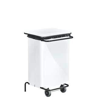 Holder for garbage bags 70 l with pedal colour white