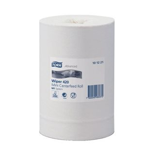 Mini wiper rolls with central feed Tork M1 Advanced Plus white - Box of 11