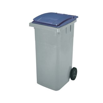 Waste container on 2 wheels 360 l plastic Omnium for waste sorting