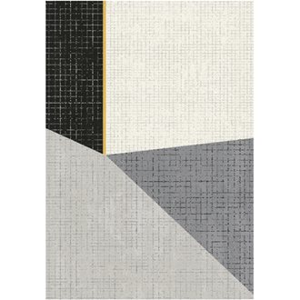 Tapis Canvas en polypropylène multicolore, tissage velours, L120 x H0,75 x P170 cm