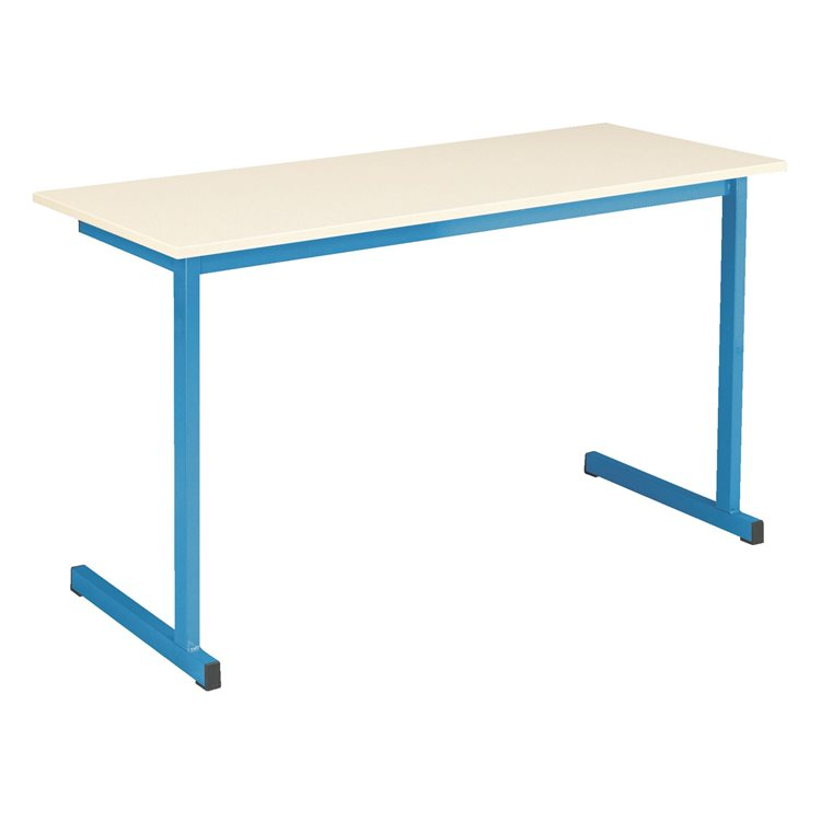 School table 2 persons ecru , undercarriage in color