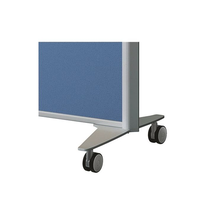 Mobile foot for acoustic partition