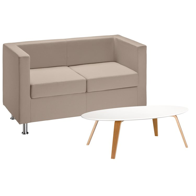 Pack sofa Rubic with classic fabric and low table Izoa