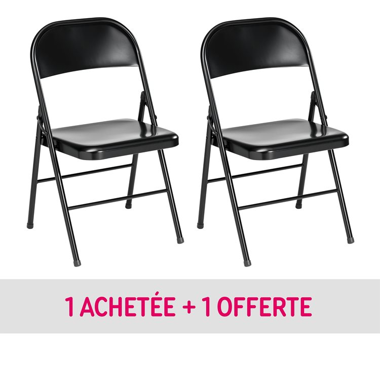 Pack folding chairs metal 1 + 1 for free