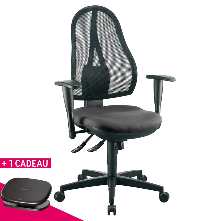 Pack office chair Holly + adaptable armrests + free foot rest